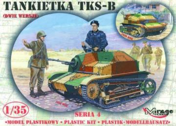 TKS-B Tankette · MG 35413 ·  Mirage Hobby · 1:35