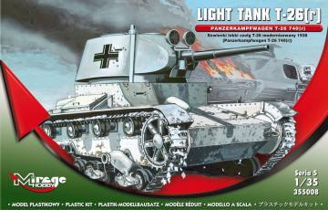 Light Tank T-26(r) Panzerkampfwagen T-26 740(r)  Serie 5 · MG 355008 ·  Mirage Hobby · 1:35