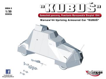 KUBUS Warsaw´44 Uprising Armoured Car · MG 355026 ·  Mirage Hobby · 1:35