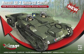Renault UE 2 Universal Carrier with Tracked Transport Trolley · MG 355027 ·  Mirage Hobby · 1:35