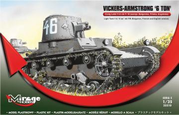 Vickers Armstrong 6ton mk F/B Light tank · MG 35510 ·  Mirage Hobby · 1:35