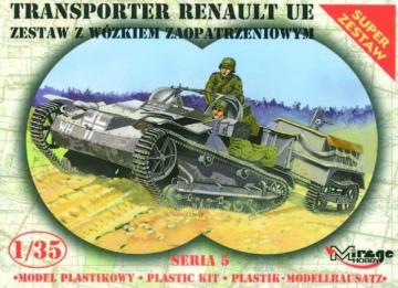 Renault UE + Universal Transportanhänger · MG 35514 ·  Mirage Hobby · 1:35