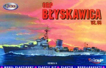 Zerstörer Blyskawica 1965 · MG 40013 ·  Mirage Hobby · 1:400