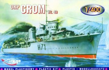 Zerstörer ORP Grom 1940 · MG 40014 ·  Mirage Hobby · 1:400