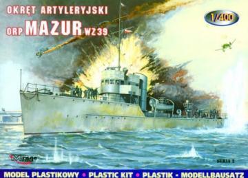 Torpedoboot Mazur 1939 · MG 40022 ·  Mirage Hobby · 1:400