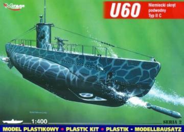 Deutsches U-Boot U 60 Typ II C · MG 40025 ·  Mirage Hobby · 1:400