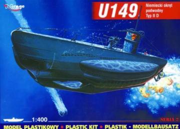 Deutsches U-Boot U 149 Typ IID · MG 40026 ·  Mirage Hobby · 1:400