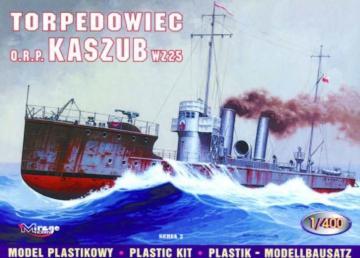 Torpedoboot ORP Kaszub · MG 40027 ·  Mirage Hobby · 1:400