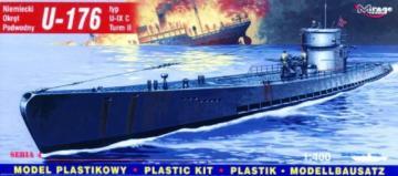 Deutsches U-Boot U 176 Typ IX C · MG 40041 ·  Mirage Hobby · 1:400