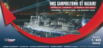 HMS Campbeltown ´St Nazaire´ ´Chariot´ Operation, 26 March 1942 · MG 400608 ·  Mirage Hobby · 1:400