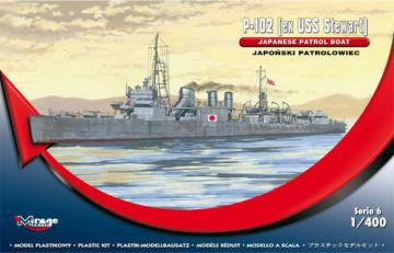 P-102 (ex USS Steward) Jap. Patr. Boat · MG 400611 ·  Mirage Hobby · 1:400