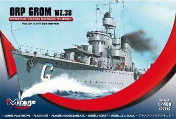 ORP GROM WZ.38, Polish Navy Destroyer · MG 400612 ·  Mirage Hobby · 1:400