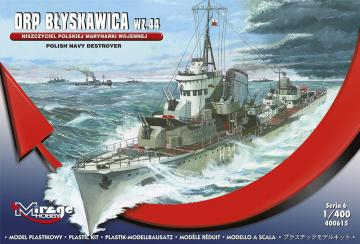 Polish Navy Destroyer ORP Blyskawica Wz.44 · MG 400615 ·  Mirage Hobby · 1:400