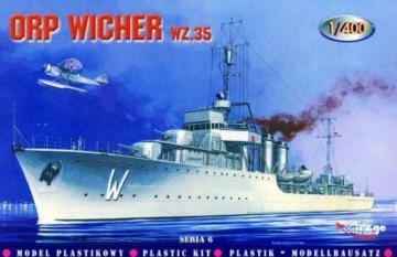 Zerstörer ORP Wicher 1935 · MG 40068 ·  Mirage Hobby · 1:400