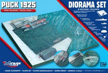 Puck 1925 Diorama Set (Naval Base) · MG 401001 ·  Mirage Hobby · 1:400
