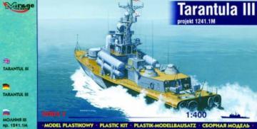 Tarantul III 1241.1M Raketenboot · MG 40230 ·  Mirage Hobby · 1:400