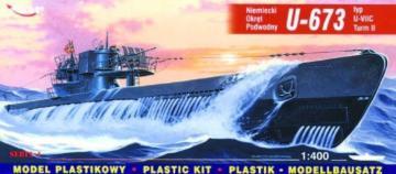Deutsches U-Boot U 673 Typ VII C Turm II · MG 40412 ·  Mirage Hobby · 1:400
