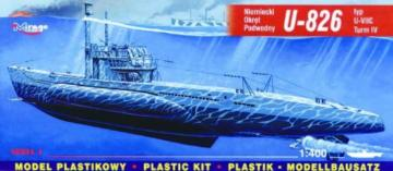 Deutsches U-Boot U 826 Typ VII C Turm 4 · MG 40413 ·  Mirage Hobby · 1:400