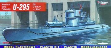 Deutsches U-Boot U 295 Typ VII C/41 mit Biber · MG 40414 ·  Mirage Hobby · 1:400