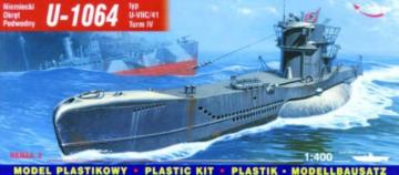 Deutsches U-Boot U 1064 Typ VII C/41 Turm 4 · MG 40415 ·  Mirage Hobby · 1:400