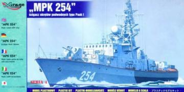 MPK 254 U-Jäger Pauk I Klasse · MG 40424 ·  Mirage Hobby · 1:400