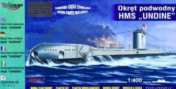 U-Boot HMS Undine der Royal Navy · MG 40429 ·  Mirage Hobby · 1:400