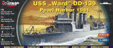 USS Ward DD-139 ´Pearl Harbor 1941´ · MG 40601 ·  Mirage Hobby · 1:400