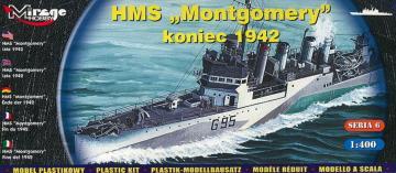 HMS ´Montgomery´ late 1942 · MG 40607 ·  Mirage Hobby · 1:400