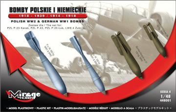 German WWI Bombs 1918-1939 & 1914-1918 · MG 448001 ·  Mirage Hobby · 1:48