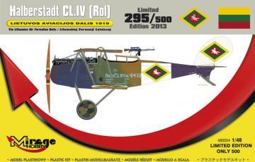 Halberstadt CL.IV(Rol) LIETUVOS 1919 · MG 480004 ·  Mirage Hobby · 1:48