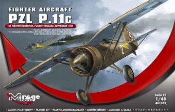 Fighter Aircraft PZL P.11c · MG 481009 ·  Mirage Hobby · 1:48