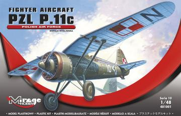 PZL P-11 C Polnische Luftwaffe mit Resin- und Fotoätzteilen · MG 48101 ·  Mirage Hobby · 1:48