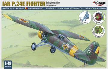 PZL P-11 C Rumänische Luftwaffe mit Resin- und Fotoätzteilen · MG 48103 ·  Mirage Hobby · 1:48