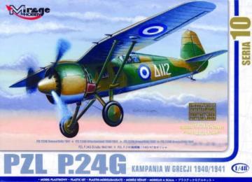 PZL P.24 G Griechenland 1940/41 mit Resin- und Fotoätzteilen · MG 48108 ·  Mirage Hobby · 1:48