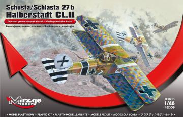 Schusta/ Schlasta 27b Halberstadt CL.II · MG 481308 ·  Mirage Hobby · 1:48