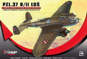 PZL.37 B/II LOS Bomber Aircraft · MG 481310 ·  Mirage Hobby · 1:48