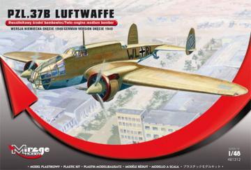 PZL.37B Luftwaffe Germ.Vers. Okecie 1940 · MG 481312 ·  Mirage Hobby · 1:48