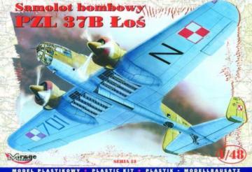 PZL P37B Los Bomber · MG 48132 ·  Mirage Hobby · 1:48