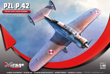 PZL P.42 (Polish Light Diving Bomber) · MG 481320 ·  Mirage Hobby · 1:48