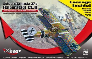Schusta/Schlasta 27b Halberstadt + color · MG 481401 ·  Mirage Hobby · 1:48