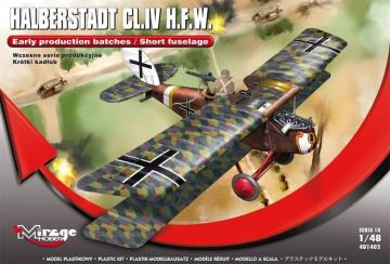Halberstadt CL.IV H.F.W. - Early production batches / Short fuselage · MG 481402 ·  Mirage Hobby · 1:48