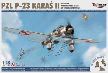 PZL P-23 KARAS II,1939 - Version with an Additional Antenna · MG 481601 ·  Mirage Hobby · 1:48