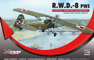 R.W.D.-8 (PWS) Trainer and Liaison Airc. · MG 485002 ·  Mirage Hobby · 1:48