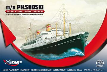 Pol. Trans-Atlantic Pas. Ship Pilsudski · MG 500601 ·  Mirage Hobby · 1:500