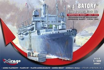 M/S Batory Troop Transporter-Attack Ship · MG 500801 ·  Mirage Hobby · 1:500