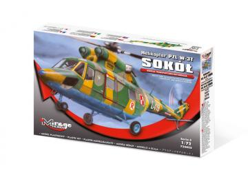 Helicopter PZL W-3T SOKOL - Transport and Rescue Version · MG 725055 ·  Mirage Hobby · 1:72