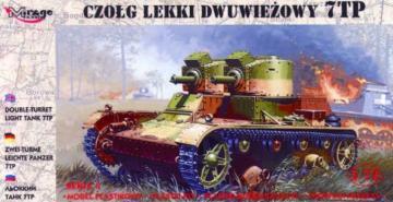 Leichter Panzer 7 TP mit Zwillingsturm · MG 72602 ·  Mirage Hobby · 1:72