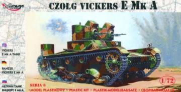 Leichter Panzer Vickers E Mk A · MG 72603 ·  Mirage Hobby · 1:72
