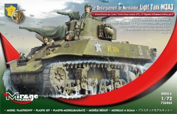 Le Debarquement de Normandie - Light Tank M3A3, · MG 726066 ·  Mirage Hobby · 1:72