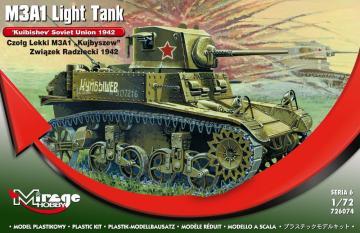 M3A1 Light Tank ´Kuibishev´ Sov. Union · MG 726074 ·  Mirage Hobby · 1:72